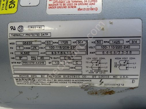 Details about  /Gast Vacuum Pump 0823-V142AQ-G583X 100//240V 60Hz 1725 r//m 50Hz 1425 r//m