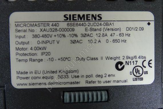 Details about  /one USED Siemens 6SE6440-2UD24-0BA1 6SE64402UD240BA1 380V 4KW Inverter