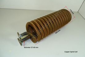Cooling Coil - Copper Spiral Coil 420 x 170 mm - Used